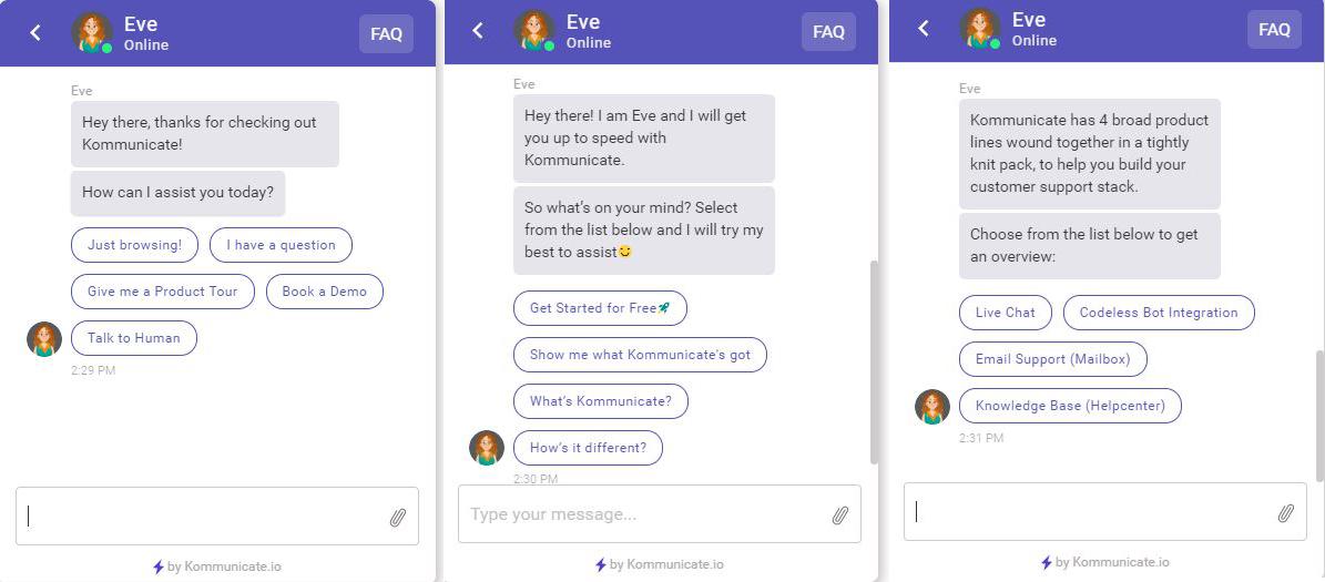 Bot Samples · Developer Docs | Kommunicate